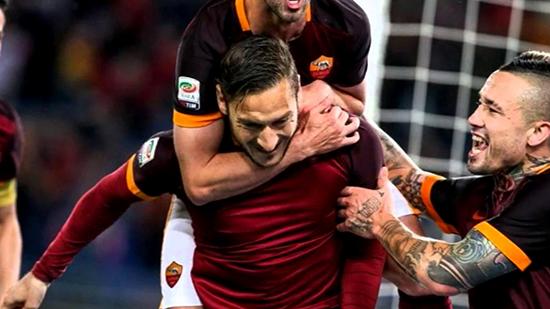 Francesco Totti Kembali Menjadi Pahlawan Kemenangan AS Roma