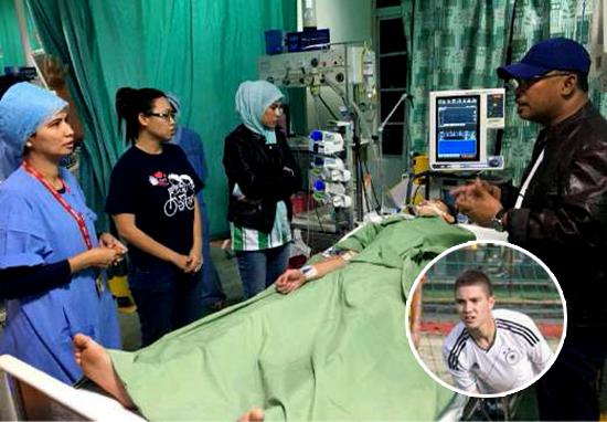 Tersambar Petir Saat Latihan Di Malaysia, Stefan Tak Sadarkan Diri