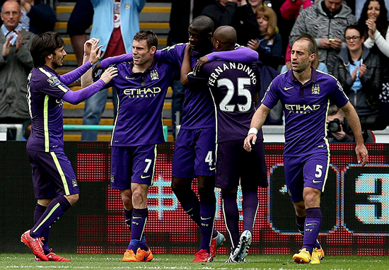 Hasil Pertandingan Swansea City 2 vs 4 Manchester City